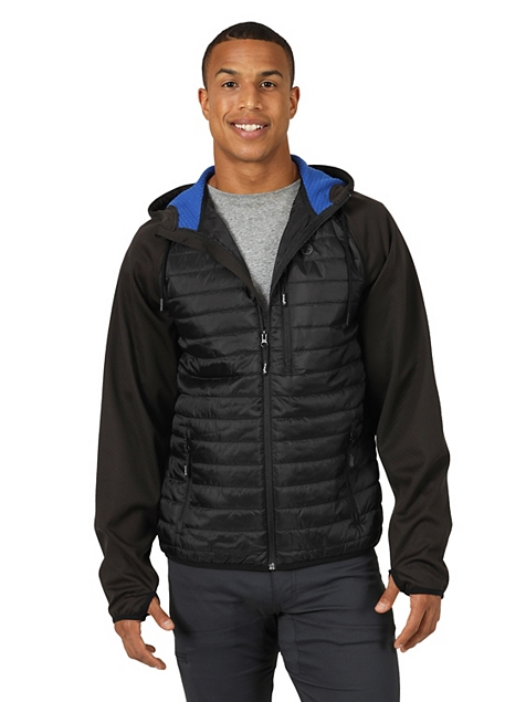 ALL TERRAIN GEAR™ BY WRANGLER® MEN'S OUTRIDER JACKET IN BLACK/ROYAL