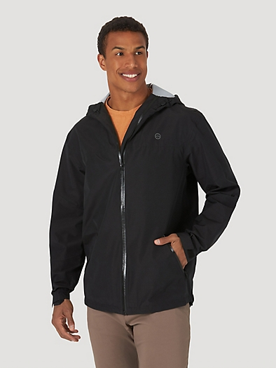 All terrain gear By Wrangler® Men's Rain Jacket in Black