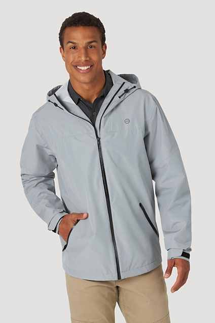 ALL TERRAIN GEAR™ BY WRANGLER® MEN'S RAIN JACKET IN MONUMENT