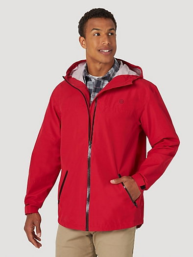 All terrain gear By Wrangler® Men's Rain Jacket in Red