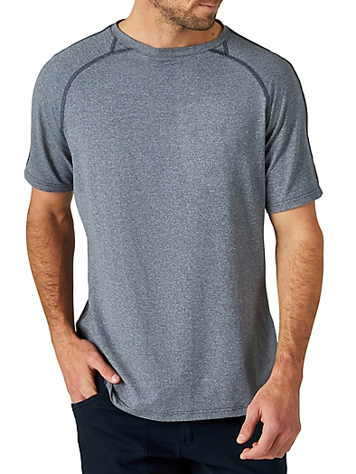 All Terrain Gear by Wrangler® Men's Performance Knit Shirt in Blue Nights