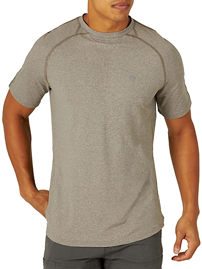 All Terrain Gear by Wrangler® Men's Performance Knit Shirt in Brushed Nickel