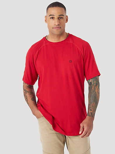 Short Sleeve Performance Tee in Haute Red