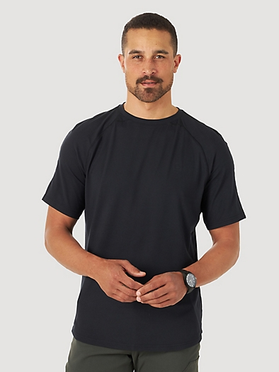 Short Sleeve Performance Tee in Jet Black