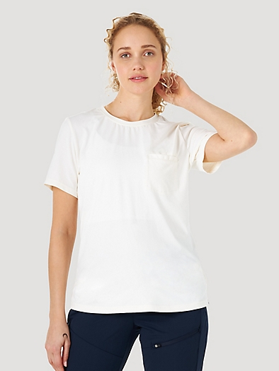 Short Sleever Pocket Tee in Sugar